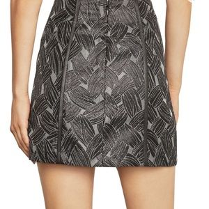 BCBG MAXAZRIA Metallic Black skirt